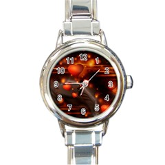 Valentine Day Love Heart Round Italian Charm Watch by HermanTelo