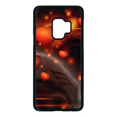 Valentine Day Love Heart Samsung Galaxy S9 Seamless Case(black)