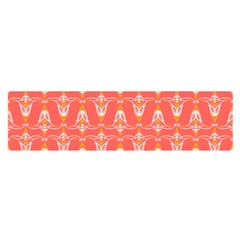 Seamless Pattern Background Red Satin Scarf (oblong)