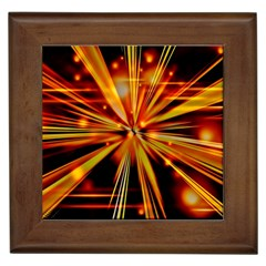 Zoom Effect Explosion Fire Sparks Framed Tiles by HermanTelo