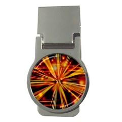 Zoom Effect Explosion Fire Sparks Money Clips (round)