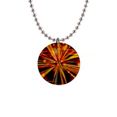 Zoom Effect Explosion Fire Sparks 1  Button Necklace