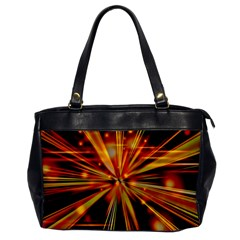 Zoom Effect Explosion Fire Sparks Oversize Office Handbag by HermanTelo