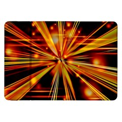 Zoom Effect Explosion Fire Sparks Samsung Galaxy Tab 8 9  P7300 Flip Case by HermanTelo