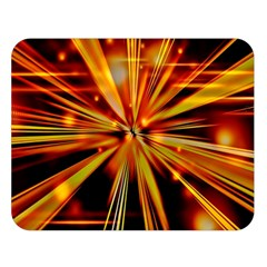 Zoom Effect Explosion Fire Sparks Double Sided Flano Blanket (large)  by HermanTelo