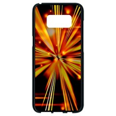 Zoom Effect Explosion Fire Sparks Samsung Galaxy S8 Black Seamless Case