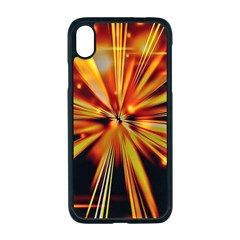 Zoom Effect Explosion Fire Sparks Iphone Xr Seamless Case (black)