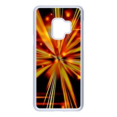 Zoom Effect Explosion Fire Sparks Samsung Galaxy S9 Seamless Case(white)