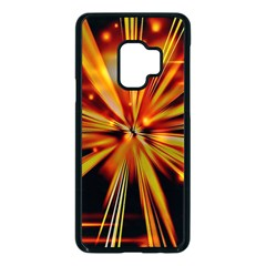 Zoom Effect Explosion Fire Sparks Samsung Galaxy S9 Seamless Case(black)