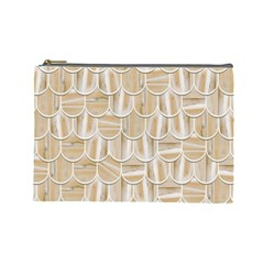 Texture Background Brown Beige Cosmetic Bag (large)