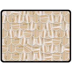 Texture Background Brown Beige Double Sided Fleece Blanket (large)