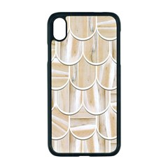 Texture Background Brown Beige Iphone Xr Seamless Case (black)