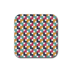 Abstract Geometric Rubber Coaster (square)  by HermanTelo
