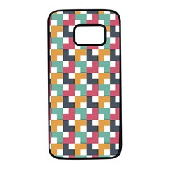 Abstract Geometric Samsung Galaxy S7 Black Seamless Case by HermanTelo