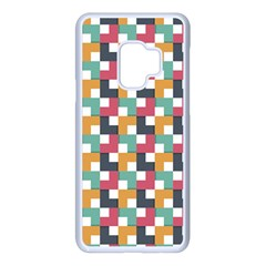 Abstract Geometric Samsung Galaxy S9 Seamless Case(white)
