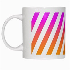 Abstract Lines Mockup Oblique White Mugs