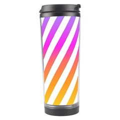 Abstract Lines Mockup Oblique Travel Tumbler