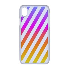 Abstract Lines Mockup Oblique Iphone Xr Seamless Case (white)