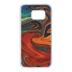 Abstract Art Pattern Samsung Galaxy S7 White Seamless Case by HermanTelo