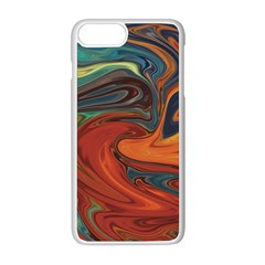 Abstract Art Pattern Iphone 8 Plus Seamless Case (white)