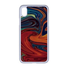 Abstract Art Pattern Iphone Xr Seamless Case (white)