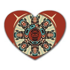 Grateful Dead Pacific Northwest Cover Heart Mousepads