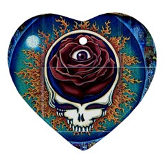 Grateful Dead Ahead Of Their Time Heart Ornament (two Sides)