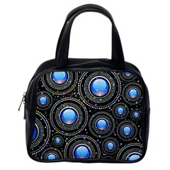 Abstract Glossy Blue Classic Handbag (one Side) by HermanTelo