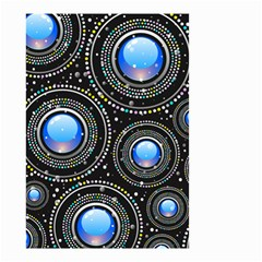 Abstract Glossy Blue Small Garden Flag (two Sides)