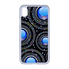 Abstract Glossy Blue Iphone Xr Seamless Case (white)