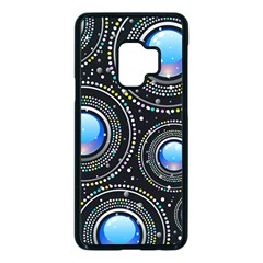 Abstract Glossy Blue Samsung Galaxy S9 Seamless Case(black)
