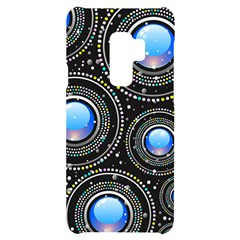 Abstract Glossy Blue Samsung S9 Plus Black Uv Print Case