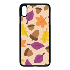 Acorn Leaves Pattern Iphone Xs Max Seamless Case (black)