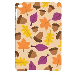 Acorn Leaves Pattern Apple Ipad Mini 4 Black Uv Print Case by HermanTelo