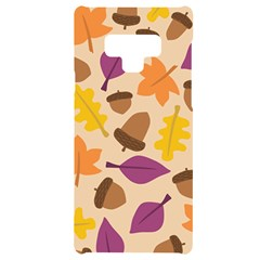 Acorn Leaves Pattern Samsung Note 9 Black Uv Print Case  by HermanTelo