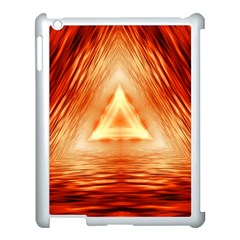 Abstract Orange Triangle Apple Ipad 3/4 Case (white) by HermanTelo