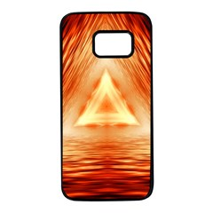 Abstract Orange Triangle Samsung Galaxy S7 Black Seamless Case by HermanTelo
