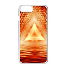 Abstract Orange Triangle Iphone 8 Plus Seamless Case (white)