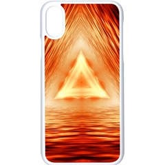 Abstract Orange Triangle Iphone X Seamless Case (white)