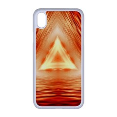 Abstract Orange Triangle Iphone Xr Seamless Case (white)