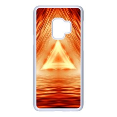 Abstract Orange Triangle Samsung Galaxy S9 Seamless Case(white)