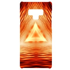 Abstract Orange Triangle Samsung Note 9 Black Uv Print Case