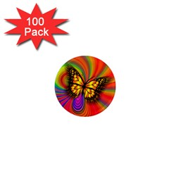 Arrangement Butterfly 1  Mini Magnets (100 Pack)