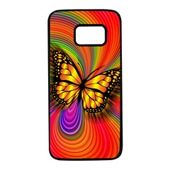 Arrangement Butterfly Samsung Galaxy S7 Black Seamless Case by HermanTelo