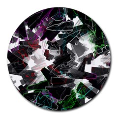 Abstract Science Fiction Round Mousepads