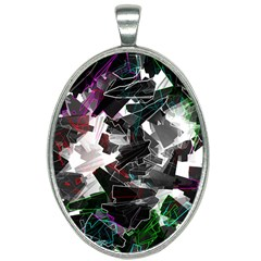Abstract Science Fiction Oval Necklace