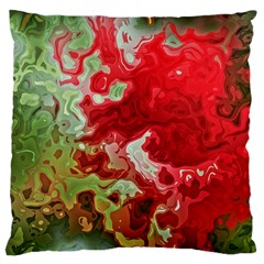 Abstract Stain Red Seamless Large Cushion Case (two Sides)