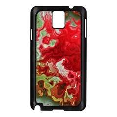 Abstract Stain Red Seamless Samsung Galaxy Note 3 N9005 Case (black) by HermanTelo