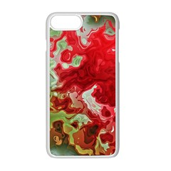 Abstract Stain Red Seamless Iphone 8 Plus Seamless Case (white)