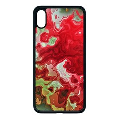Abstract Stain Red Seamless Iphone Xs Max Seamless Case (black)
